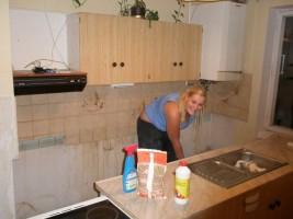 2009-07 Práce na novém bytě.